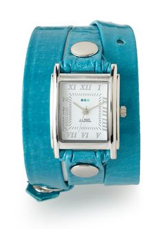 LA MER COLLECTIONS Triple Wrap Watch with Square Face...this would be great for work this season