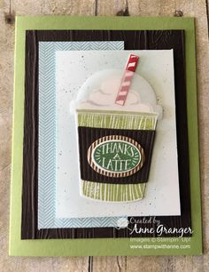 StampWithAnne: Stampin'Up! Coffee Cafe stamp set and Coffee Cups Framelits