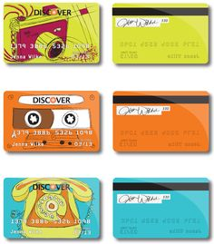 Retro Credit Cards by Jenna Wilke , via Behance
