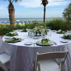 Intimate wedding reception on the deck at The Marriott - Palmetto Dunes, Hilton Head Island.