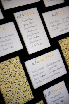 easy diy table assignments in picture frame. If I had seating assignments I'd totally do this.