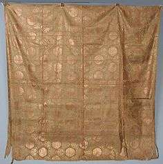 Japanese Copper & Silk Brocade Panel, 19th C.<br /> Session 1 - Lot 181 - $300