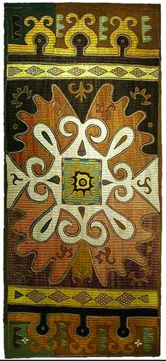 Kaitag silk embroidered cotton textile, first half of 19th c., Daghestan, Russia.