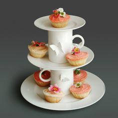 Cake Stand/Tiered Serving Stand- White plates and mugs? hmmmm...
