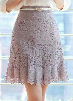 Faldas encaje