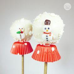 Cake Pop Schneekugeln