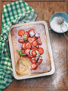 Sweet Oven Pancakes   Photo from Tina Nordstrom's Scandinavian Cooking (Used with permission)