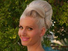 platinum blonde updo