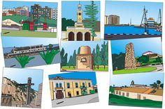 Resumen de #ilustraciones perfiladas de #Cartagena