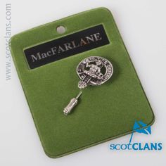 MacFarlane Clan Crest Tie Pin. Free worldwide shipping available