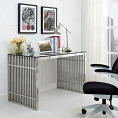 Modway Gridiron Stainless Steel Desk – Modish Store