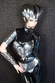 cybergoth corset top sci fi costume toplady ga brarave by divamp