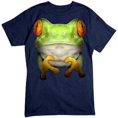 Green Tree Frog T-shirt by RoloWear Small thru by RoloWear on Etsy