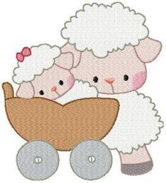 18 Ideas for embroidery baby gifts kids Embroidery Hoop Crafts, Free Machine Embroidery Designs, Embroidery Hoop Art, Vintage Embroidery, Embroidery Patterns, Baby Sheep, Cute Sheep, Sheep Cartoon, Wedding Cross Stitch