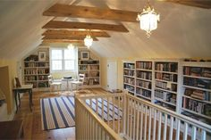 Best Attic Before and Afters 2015 - This Old House Attic Library, Attic Playroom, Attic Loft, Attic Stairs, Garage Attic, Attic House, Attic Ladder, Loft Room, Attic Office Space