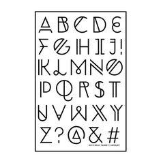 Lovejoy Alphabet Stamp from Kelly Purkey