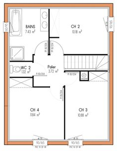 1000 ideas about plan maison 4 chambres on pinterest maison 4 chambres pl - Plan extension maison 40m2 ...