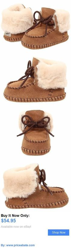 Baby Girls Shoes: Infant Shoes Ugg Sparrow Suede Moccasins 1007947I Chestnut *New* BUY IT NOW ONLY: $54.95 #priceabateBabyGirlsShoes OR #priceabate