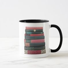 Shop Stack Of Books-RED Mug created by MyCharmedCottage. Reading Themes, Red Mug, Stack Of Books, Book Lovers, Favorite Color, Dinnerware, Coffee Mugs, Beverages, Kids Shop