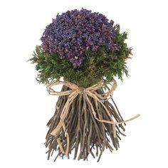 Arreglo floral  bouquet artificial de color violeta echo con flores secas. http://www.lallimona.com/online/flores-y-plantas-artificiales/