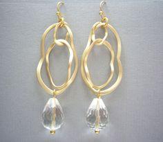 LOOPING Gold & BERGKRISTALL facettiert von SCHMUCK. by felicitas mayer auf DaWanda.com