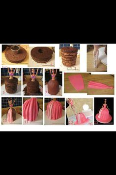 Barbie cake- handy built-up (i am so making this for one of my birthdays!!!)