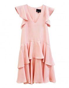 Cynthia Rowley - Silk Ruffle Dress in Pink | Dresses by Cynthia Rowley