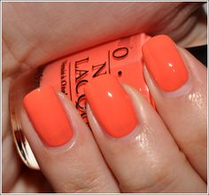 OPI Hot & Spicy - fun summer color