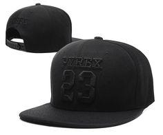 Men's Pyrex Vision Brand Number 23 Streetwear Hip Hop Fashion Snapback Hat - Black / Black
