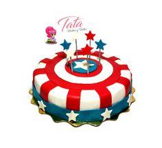 Torta Capitán América  - Cake by Tata Postres y Tortas