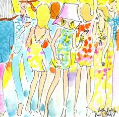 Reminds me of Lucy and Ethel's Parisian fashions! Bottoms Up! #lilly5x5