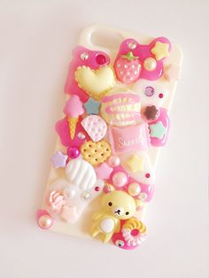 SALE Kawaii iPhone 4/4S Decoden Case Candies & Deco by Minimou, kr135.00