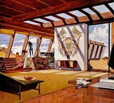 Charles Schridde's illustrations from the early 1960s for Motorola. #future #house #design
