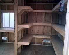 We are definitely doing this to our shed. Planning To Build A Shed? Now You Can Build ANY Shed In A Weekend Even If You've Zero Woodworking Experience! Start building amazing sheds the easier way with a collection of shed plans! Storage Shed Organization, Storage Shed Plans, Basement Storage, Built In Storage, Garage Storage, Wall Storage, Storage Ideas, Diy Storage, Organizing