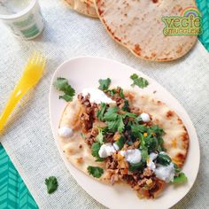 30 minute dinner - citrus lamb mince on naan. Interesting enough for adults, kids will be happy too!