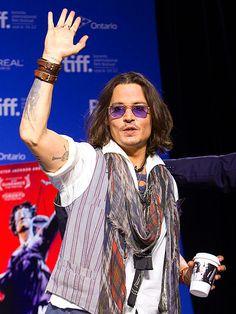 Johnny Depp at TIFF 2012