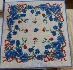 Heirloom Quilted Vintage Tablecloth