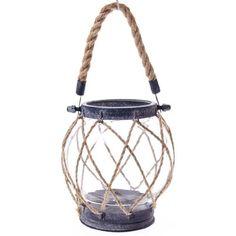 Nautical Rope Candle Lantern - Small
