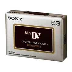 Sony SO-DVM63HD Mini DV Tape HD 63 min Data Cartridge by Sony. $10.49. N/A. Save 13% Off!
