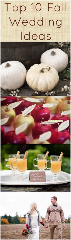 Top 10 Fall Wedding Ideas