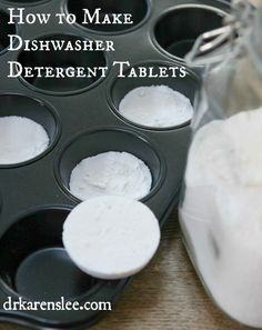 Make non-toxic, borax free dishwasher detergent tablets by (diy household tips dishwasher detergent) Homemade Cleaning Products, Cleaning Recipes, Natural Cleaning Products, Cleaning Hacks, Bath Products, Free Products, Cleaning Solutions, Dishwasher Tabs, Whirlpool Dishwasher