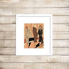 Flapper art vintage coats deco design Art Deco by PictorialHistory, $40.00