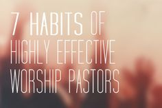 Whenever you lead worship, do people leave talking about your talent or the greatness of God?