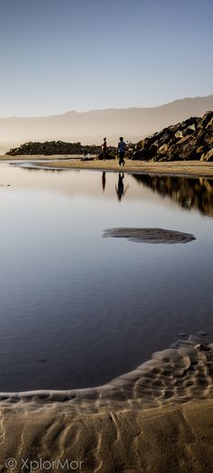Sandy Pool. Carpinteria State Beach, Carpinteria, California