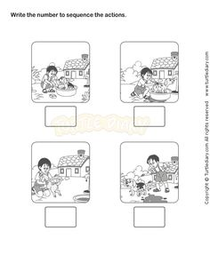 picture sequencing worksheets 13 best Picture Sequence Worksheet images on Pinterest | Note cards ...