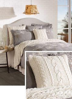 Cozy Cable Knit throw & pillow from Brunelli Bedding