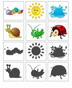 us wp-content uploads 2016 08 animals-shadow-matching. Preschool Learning Activities, Preschool Worksheets, Infant Activities, Educational Activities, Book Activities, Teaching Kids, Matching Cards, Montessori Materials, Kids Education