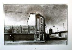 """TARDI . Affiche Édition d'Art - """"L'Arrêt de Bus"""""""