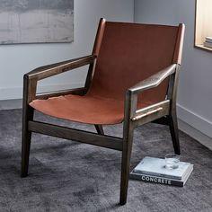 Felipe Leather Sling Chair