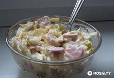 Virslis káposztasaláta Hungarian Cuisine, Hungarian Recipes, Potato Salad, Bacon, Salads, Dishes, Cooking, Ethnic Recipes, Food